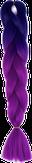 HIVISION Канекалон для афрокосичек темно-синий/фиолетовый # 40