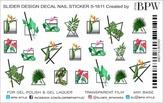 BPW Style Слайдер-дизайн Геометрия с тропическими листьями
