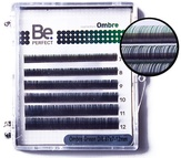 BePerfect Цветные ресницы Ombre Green MIX 6 линий (D/0,10/7-12)