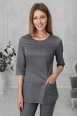 Лечи Красиво! Блуза женская 118 (сатори), размер 50, цвет темно-серый-2