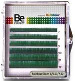 BePerfect Цветные ресницы Rainbow Green MIX 6 Линий (D/0,10/7-12)