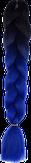 HIVISION Канекалон для афрокосичек черный/синий # 19