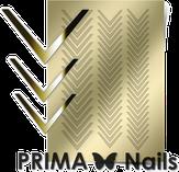 Prima Nails Металлизированные наклейки CL-003, Золото