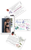"""Miami Tattoos Акварельные переводные тату """"Floral Lettering"""""""