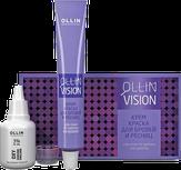 Ollin VISION Крем-краска (черный) для бровей и ресниц, 20 мл.