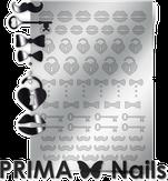 Prima Nails Металлизированные наклейки FSH-04, Серебро