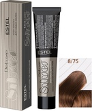 Estel Professional De Luxe Silver Стойкая крем-краска для седых волос 8/75, 60 мл.
