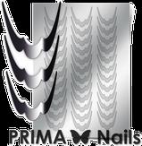 Prima Nails Металлизированные наклейки CL-009, Серебро
