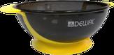 Dewal Чаша для краски, с двумя ручками с прорезиненной вставкой желтая 300 мл. T-18yellow
