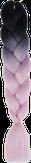 HIVISION Канекалон для афрокосичек черный/розовый # 03