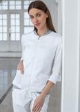 Лечи Красиво! Жакет женский 142 (сатори), размер 48, цвет белый+светло-серый-2