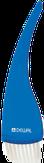 Dewal Кисть для окрашивания прозрачная синяя, с белой щетиной, широкая 50 мм. T-13blue