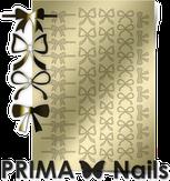 Prima Nails Металлизированные наклейки PR-001, Золото