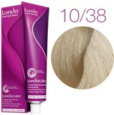Londa Color Стойкая крем-краска 10/38 яркий блонд золотисто-жемчужный, 60 мл,