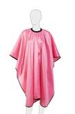 "Dewal Пеньюар для стрижки ""Глянец"", полиэстер, розовый 128х146 см. на крючках"