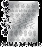 Prima Nails Металлизированные наклейки FL-05, Серебро