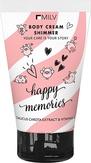 MILV Увлажняющий крем для тела с шиммером «Happy memories» 150 мл.