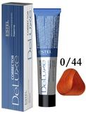 Estel Professional De Luxe Крем-краска корректор для окрашивания волос оранжевый 0/44, 60 мл.