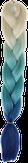 HIVISION Канекалон для афрокосичек бежевый/бирюзовый/синий # 54