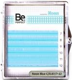Be Perfect Цветные ресницы Neon Blue MIX 6 линий (C/0.10/7-12)