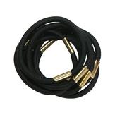 Dewal Резинки для волос, черные maxi 10 шт./уп. RE021