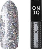 ONIQ Гель-лак для ногтей плотный MIX: Silver Holographic Shimmer OGP-100s
