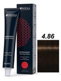 Indola Red&Fashion 4.86 Крем-краска Средний коричневый шоколадный красный 60мл