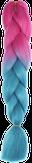 HIVISION Канекалон для афрокосичек малиновый/бирюзовый # 36