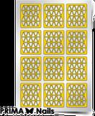 """Prima Nails Трафарет для дизайна ногтей, """"Орнамент - треугольники"""""""