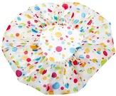 Dewal Beauty Шапочка для душа белая с цветным горохом DBH3