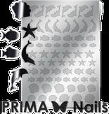 Prima Nails Металлизированные наклейки SEA-004, Серебро