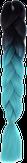 HIVISION Канекалон для афрокосичек черный/бирюзовый # 14