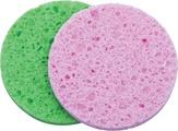Dewal Спонж для снятия макияжа круглый цветной 2 шт.