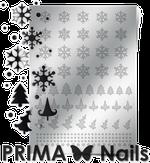 Prima Nails Металлизированные наклейки W-02, Серебро