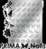 Prima Nails Металлизированные наклейки BF-02, Серебро
