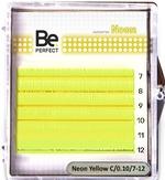 Be Perfect Цветные ресницы Neon Yellow MIX 6 линий (D/0.10/7-12)