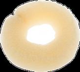 Dewal Валик для прически, сетка с кнопкой, блондин 25 см.