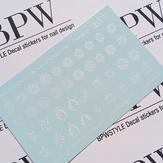 BPW Style Слайдер дизайн градиент Микс со снежинками