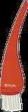 Dewal Кисть для окрашивания красная с белой щетиной узкая 35 мм.