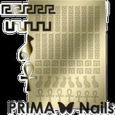 Prima Nails Металлизированные наклейки OR-002, Золото