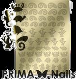 Prima Nails Металлизированные наклейки SEA-005, Золото