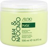 Studio Маска увлажняющая для волос с маслами авокадо и оливы 500 мл.