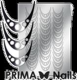 Prima Nails Металлизированные наклейки CL-005, Серебро