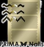 Prima Nails Металлизированные наклейки OR-005, Золото
