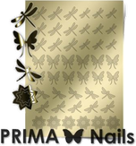 Prima Nails Металлизированные наклейки BF-02, Золото