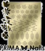 Prima Nails Металлизированные наклейки FL-05, Золото