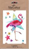"""Miami Tattoos Акварельные переводные тату """"Flamingo"""""""