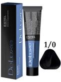 Estel Professional De Luxe Стойкая крем-краска 1/0, 60 мл.