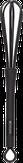 Dewal Венчик для смешивания краски, цвет черный SC-002F