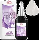 Wella Color Fresh Оттеночная краска 10/81 яркий блондин жемчужно-пепельный 75 мл.